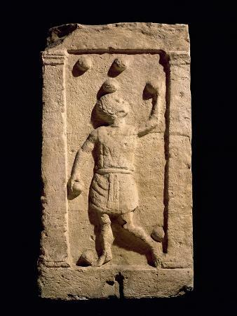 Relief Depicting a Juggler from the Stela of Settimia Spica (Stone)