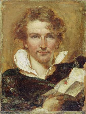 Self Portrait, 1823 (Oil on Paper on Panel)