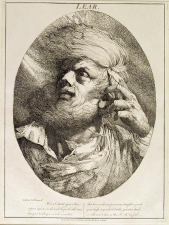 Lear, from King Lear, Act Iii, Scene 3, 1776 (Etching)