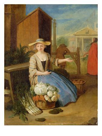 Vegetable Seller, Covent Garden, C.1726 (Oil on Panel)