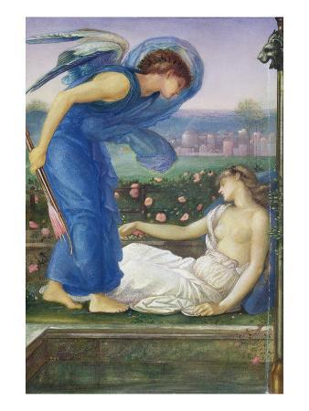 Cupid and Psyche, C.1865 (W/C, Bodycolour and Pastel on Paper Mounted on Linen)