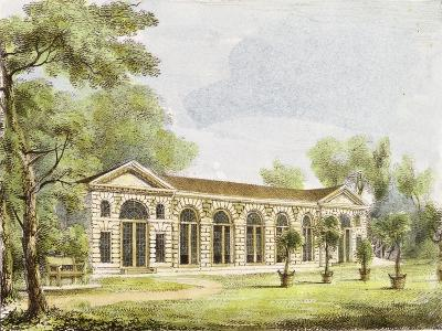Orangery, Kew Gardens, Plate 11 from 'Kew Gardens: a Series of Twenty-Four Drawings on Stone'