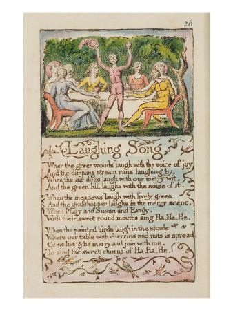 Laughing Song', Plate 26 from 'Songs of Innocence and of Experience' [Bentley 15] C.1789-94