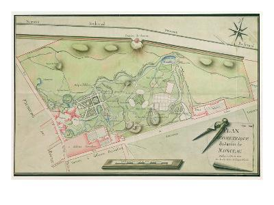 Plan of the Parc Monceau, 1803 (Pen and Ink and W/C on Paper)