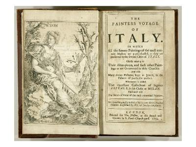 Titlepage from 'The Painter's Voyage of Italy...' by Giacomo Barri, 1679 (Engraving)