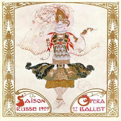 Cover of a Programme for the Russian Season of Opera and Ballet, 1909 (W/C on Paper)