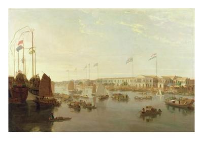 The European Factories, Canton, 1806