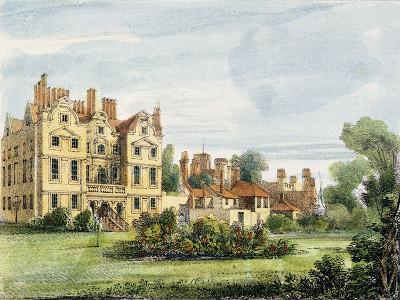 North Front, Old Palace, from the Queen's Garden, Plate 5