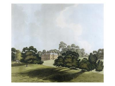 Vinters in Kent, Seat of James Whatman Esq., from 'Views in Kent', 1800 (Hand Coloured Aquatint)