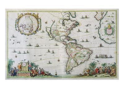 America, Plate 84, from 'Atlas Minor Sive Geographica Compendiosa', 1680 (Hand-Coloured Engraving)