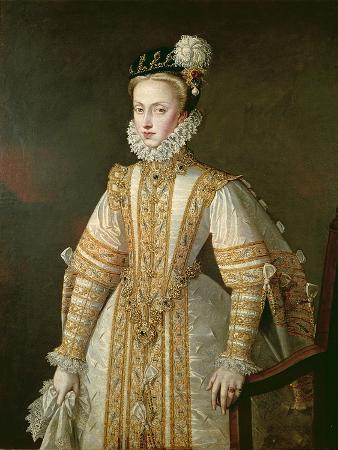 Anne of Austria (1549-80) Queen of Spain, c.1571