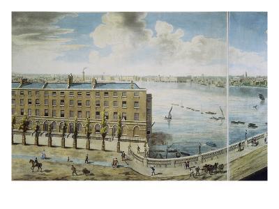 Panoramic View of London, 1792-93 (Coloured Aquatint)