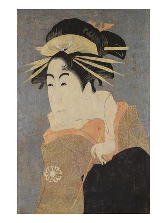 Matsumoto Yonesaburo in the Role of the Courtesan Kewaizaka No Shosho (Shinobu)
