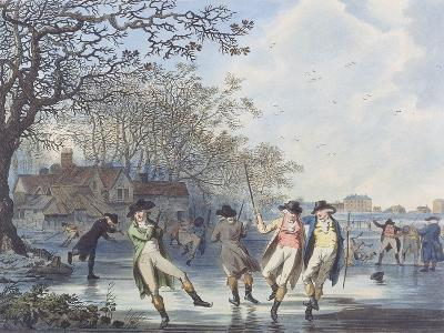 Winter Amusement: a View in Hyde Park from the Moated House, 1787 (Aquatint)
