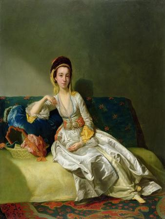 Nancy Parsons in Turkish Dress, C.1771 (Oil on Copper)