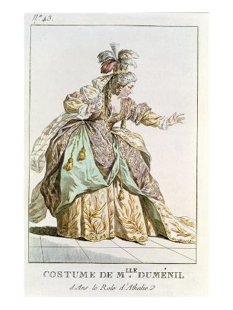 Mademoiselle Dumesnil (1713-1803) in the Role of Athalie in 'Athalie' by Jean Racine (1639-99)