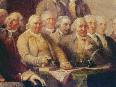 Drafting the Declaration of Independence, 28th June 1776, c.1817 (Detail)