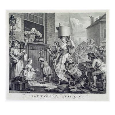 The Enraged Musician, 1741 (Engraving)