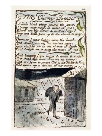 The Chimney Sweeper', Plate 41 (Bentley 37) from 'Songs of Innocence and of Experience'