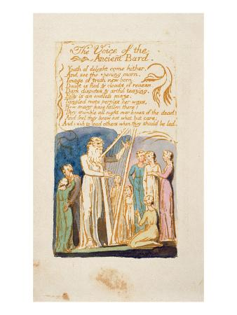 The Voice of the Ancient Bard', Plate 16 from 'Songs of Innocence and Experience'