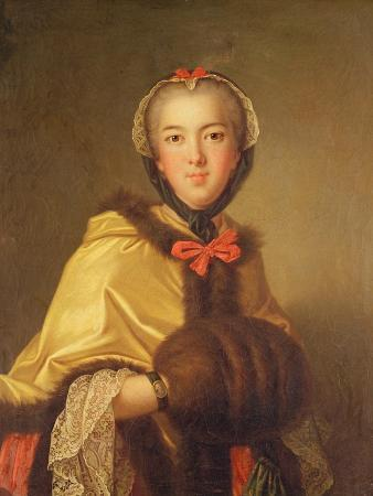 Portrait of Louis-Henriette De Bourbon-Conti, with Muffler