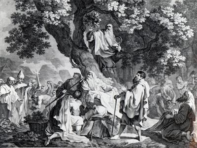 The Druids, or the Conversion of the Britons to Christianity, Engraved by Simon Francois Ravenet