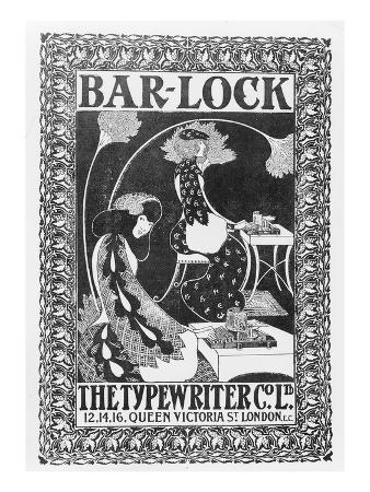 Advertisement for Bar-Lock Typewriters, C.1895 (Litho)