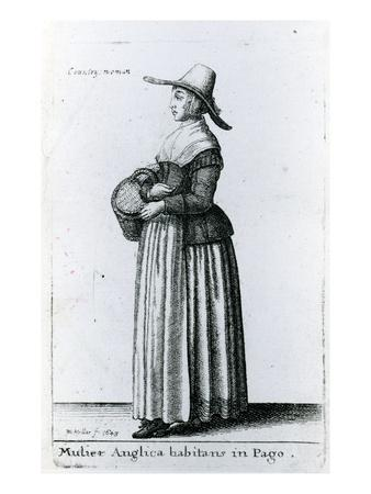English Country Woman, 1643 (Etching)