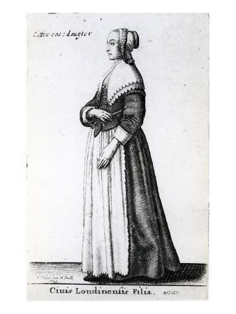 London Citizen's Daughter, 1643 (Etching)