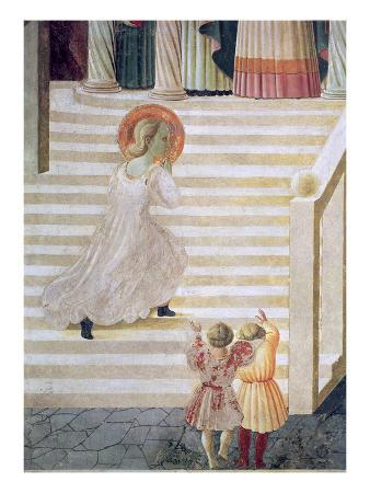 The Virgin Mary Ascending the Staircase at the Presentation of Mary in the Temple, 1433-34