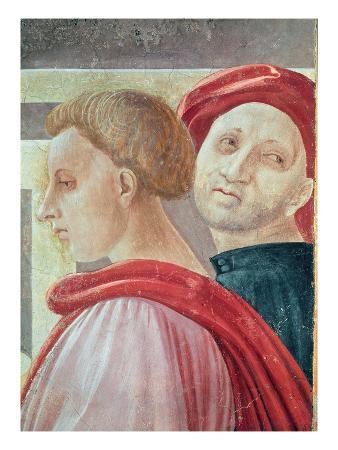 Heads of Two Men, from the Presentation of Mary in the Temple, 1433-34 (Fresco) (Detail)