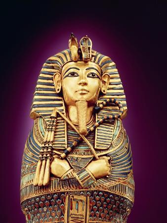 Detail of the Front View of One of the Canopic Coffins, from the Tomb of Tutankhamun, New Kingdom