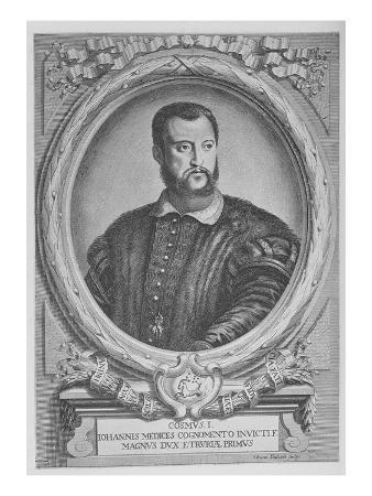 Cosimo I De'Medici, Grand Duke of Tuscany (Engraving)