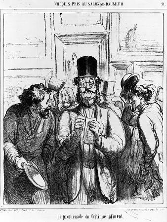 The Promenade of the Influential Critic', Cartoon from 'Charivari' Magazine, 24 June, 1865 (Litho)