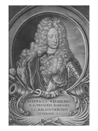 Ludwig Wilhelm of Baden-Baden (Engraving)
