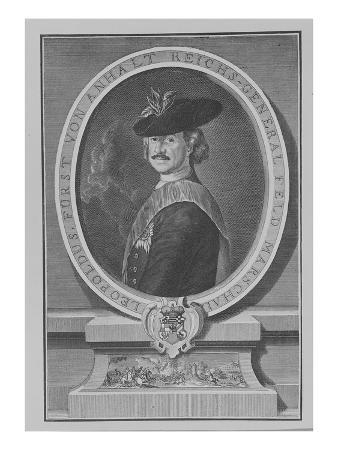 Leopold I, Prince of Anhalt-Dessau (Engraving)