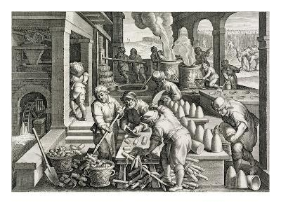 A Sugar Mill and the Production of Sugar Loaves, Plate 14 from 'Nova Reperta' (New Discoveries)