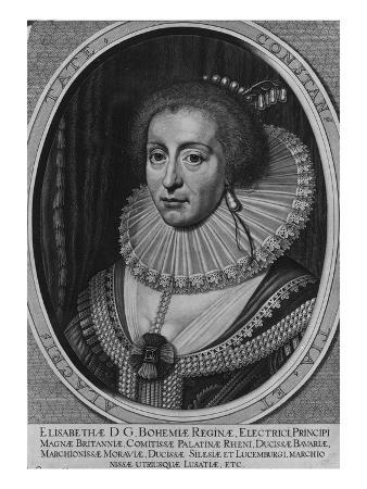 Elizabeth, Queen of Bohemia, 1630 (Engraving)