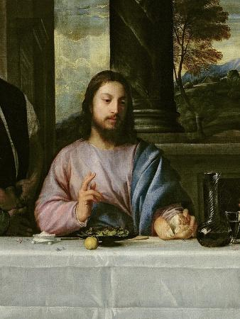 The Supper at Emmaus, c.1535 (Detail)