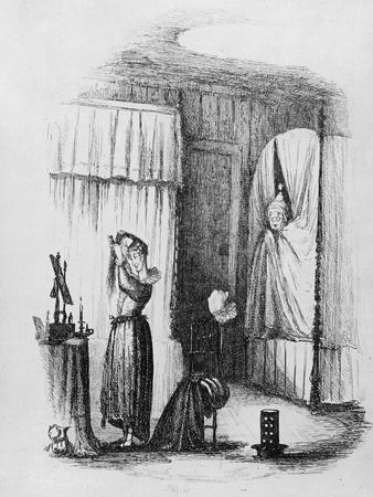 The Middle-Aged Lady in the Double-Bedded Room, Illustration from 'The Pickwick Papers'