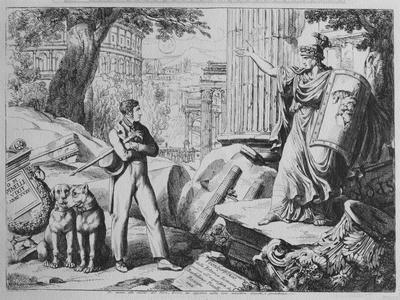 Frontispiece to 'Istoria Romana', 1818 (Engraving)