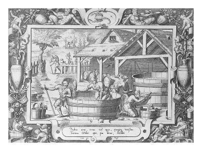 The Wine Harvest (Engraving)