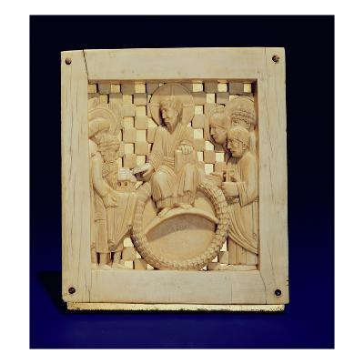 Christ Receiving Magdeburg Cathedral from Emperor Otto I, C.962-68 (Ivory)