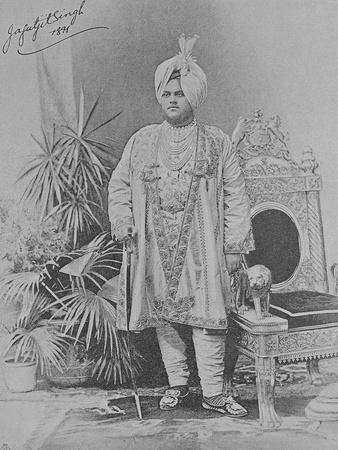 Jagatjit Singh of Kapurthala, 1891 (Engraving)
