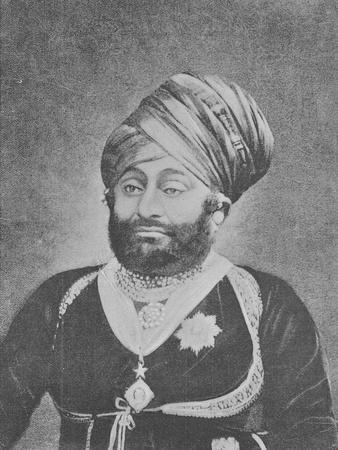 Maharaja Mansinhji Ii, Raj Sahib of Dhrangadhra (Engraving)