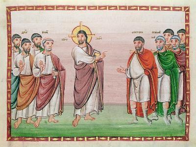 Ms. 24 Jesus and the Captain of Capernaum, from the Codex Egberti, C.980 (Vellum)