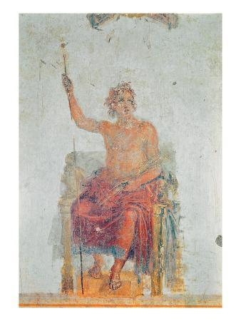 Alexander the Great, Possibly as Zeus (Fresco)