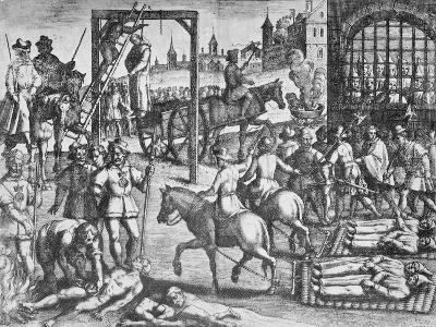 The Martyrdom of the Carthusian Monks (Engraving)