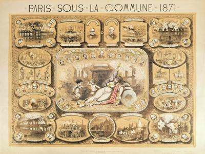 Scenes from the Paris Commune, 1871 (Colour Litho)