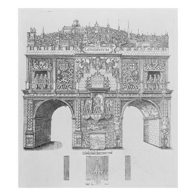 A Triumphal Arch, Engraved by William Kip, 1604 (Engraving)